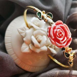les nereides floral bracelet roses leaf
